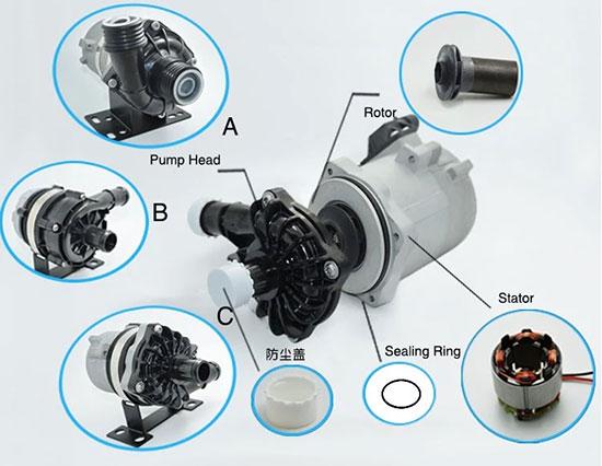 automotive electric water pump structure