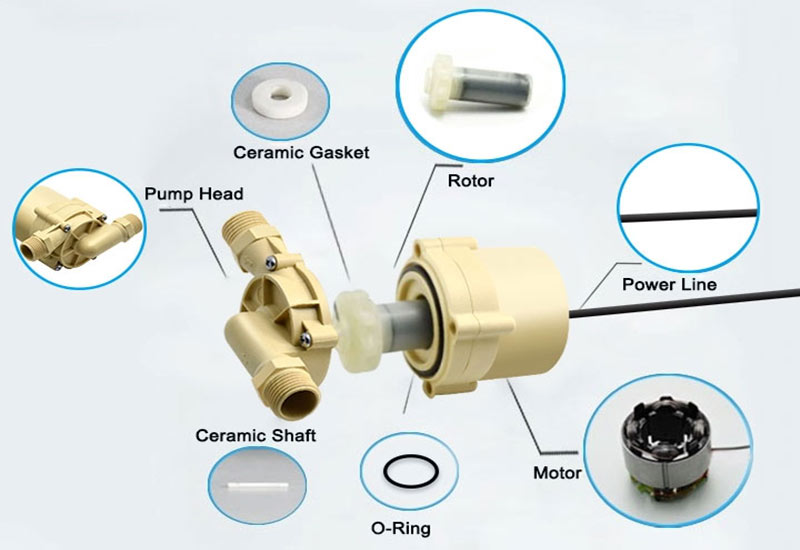 food grade water pump VP60B parts