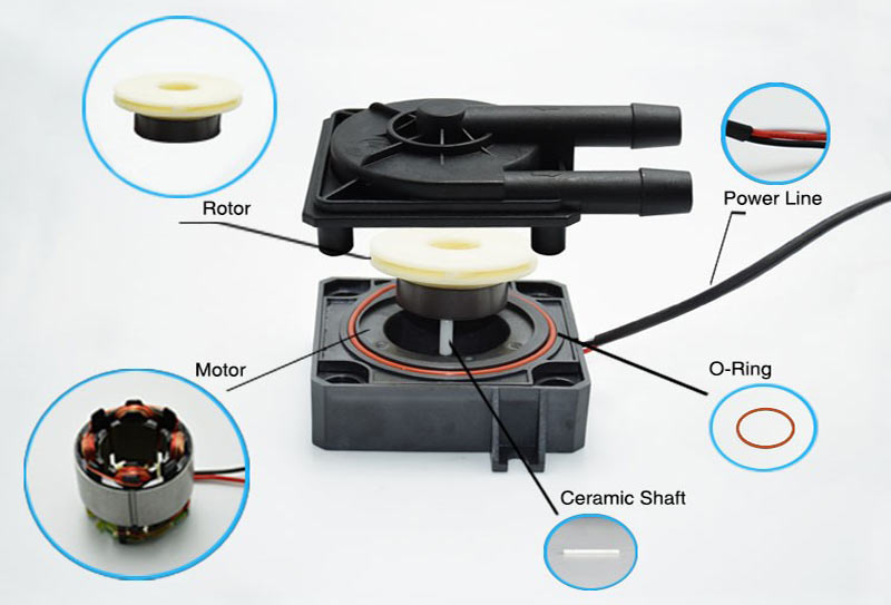 pc cooling pump VP60D parts