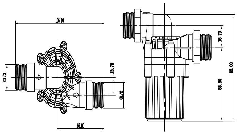 solar water heater pumps vp40s size